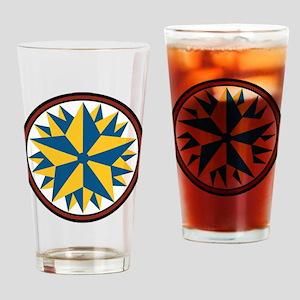 Triple Star Hex Drinking Glass