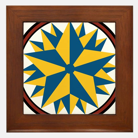 Triple Star Hex Framed Tile