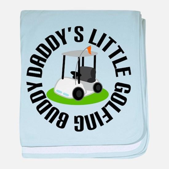 Daddys Little Golfing Buddy baby blanket