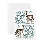 Deer in Vineyard Batik Greeting Cards (Pk of 10)