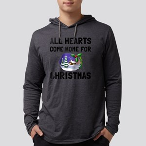 Hearts Come Home For Christmas Mens Hooded Shirt