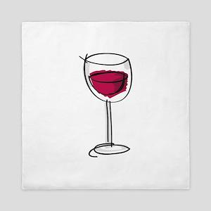 Glass Of Wine Queen Duvet