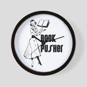 LIBRARIAN / LOCAL BOOK PUSHER Wall Clock