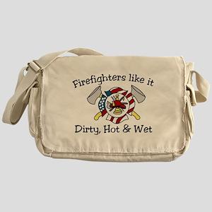 Firefighters Like It Messenger Bag