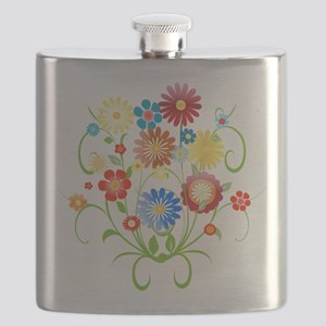 Floral bright pattern Flask