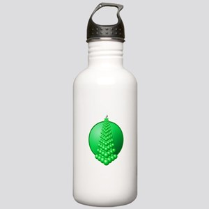 festival tree circle green Stainless Water Bottle