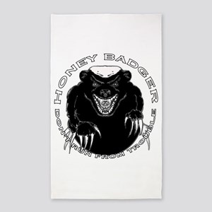 Honey badger 3'x5' Area Rug