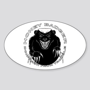 Honey badger Sticker (Oval)