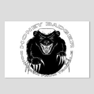 Honey badger Postcards (Package of 8)