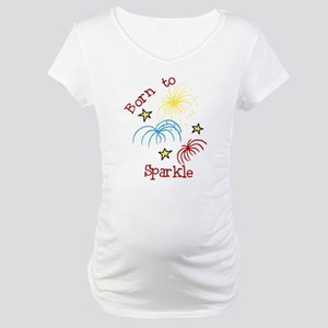 Born To Sparkle Maternity T-Shirt