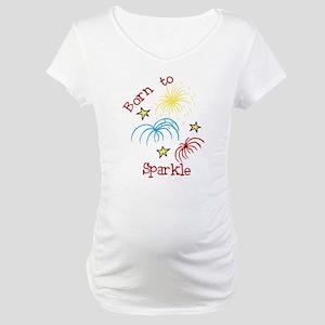 Born To Sparkle Maternity T-Shirt