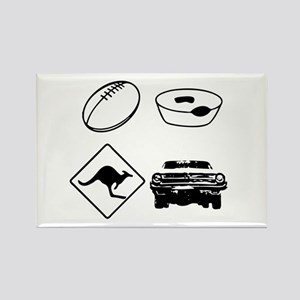 Football, Meat Pies, Kangaroo Rectangle Magnet