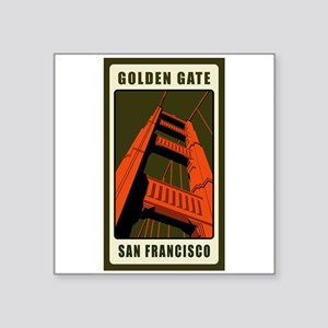 Golden Gate Rectangle Sticker