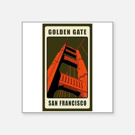 Golden Gate Rectangle Sticker