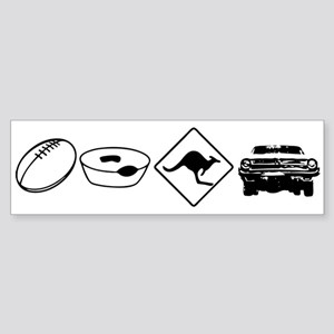 Football, Meat Pies, Kangaroo Bumper Sticker
