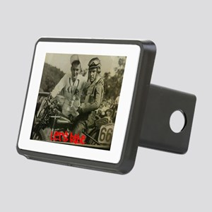 Let's Ride With #66 Rectangular Hitch Cover