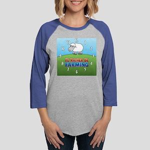 Farmville Sheep Womens Baseball Tee