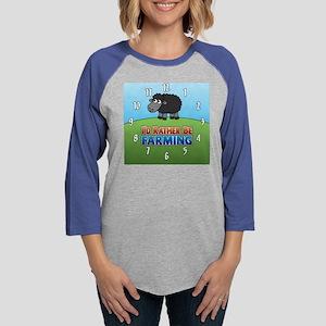 clocks_03blksheep Womens Baseball Tee
