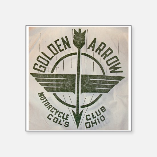 Golden Arrow Motorcycle Club Square Sticker 3&quot