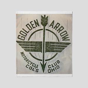 Golden Arrow Motorcycle Club Throw Blanket