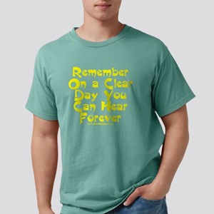 Remember On a Clear Day  Mens Comfort Colors Shirt