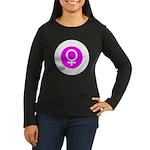 Female Symbol Pink Women's Long Sleeve Dark T-Shir