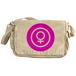 Female Symbol Pink Messenger Bag