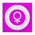 Female Symbol Pink Tile Coaster