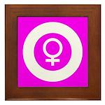 Female Symbol Pink Framed Tile