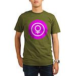 Female Symbol Pink Organic Men's T-Shirt (dark)