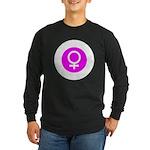 Female Symbol Pink Long Sleeve Dark T-Shirt
