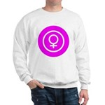 Female Symbol Pink Sweatshirt