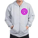 Female Symbol Pink Zip Hoodie