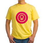 Female Symbol Pink Yellow T-Shirt