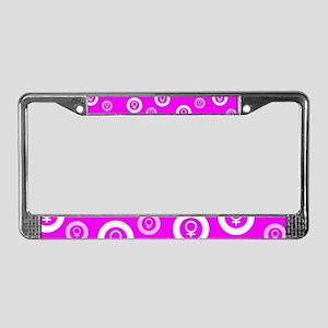Female Symbol Pink License Plate Frame