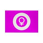 Female Symbol Pink Rectangle Magnet (100 pack)