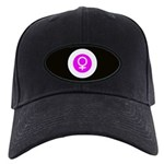 Female Symbol Pink Black Cap