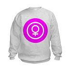 Female Symbol Pink Kids Sweatshirt