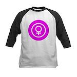 Female Symbol Pink Kids Baseball Jersey