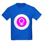 Female Symbol Pink Kids Dark T-Shirt