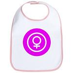 Female Symbol Pink Bib
