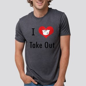 Take Out Mens Tri-blend T-Shirt