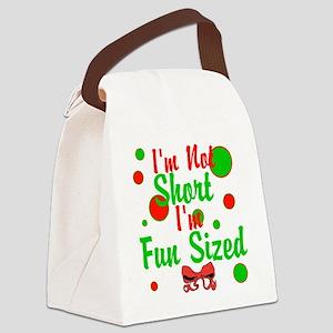 Im Not Short Im Fun Sized Canvas Lunch Bag