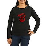 Manlet Women's Long Sleeve Dark T-Shirt
