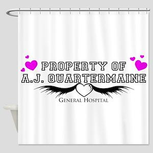 Property of AJ Quartermaine Shower Curtain