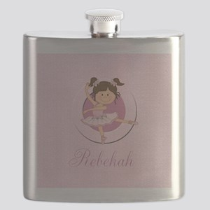 cute personalized pink ballet girl Flask