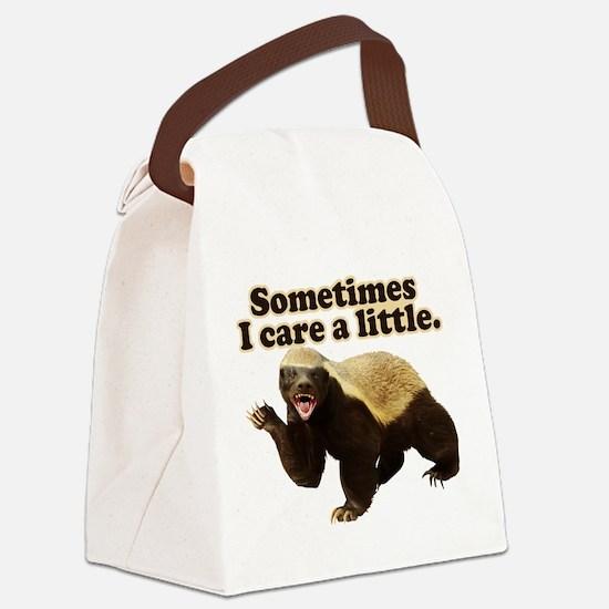 Honey Badger Sometimes I Care Canvas Lunch Bag