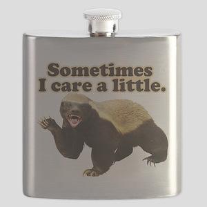 Honey Badger Sometimes I Care Flask