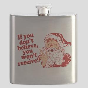 Believe in Santa Claus Flask