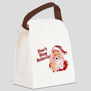 215 Santa Claus believin Canvas Lunch Bag